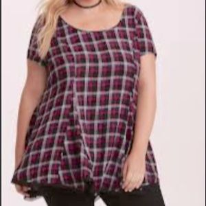 TORRID Plaid Challis Tunic